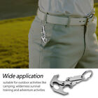 Portable Stainless Steel Gravity Hook Carabiner Keychain For Rock Climbing LJ