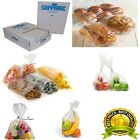 CLEAR POLYTHENE PLASTIC FOOD APPROVED BAGS 200 GAUGE *ALL SIZES / QTYS*