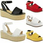 gold flatforms - Womens Ladies Low Heel Flatforms Wedge Platform Sandals Open Toe Summer Size