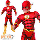 Deluxe The Flash Kids Costume Muscle Chest Justice League Superhero Boys Costume