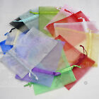 12 x 17 cm ORGANZA BAGS 16 COLOURS WEDDING PARTY JEWELLERY POUCHES FAVOURS