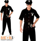 American Cop Mens Fancy Dress NYPD Police Officer Uniform Adults Costume Outfit