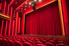 soundproof drapes - THEATER PANEL | COTTON VELVET CURTAIN SOUNDPROOF STAGE THEATRE DRAPE | ROYAL RED