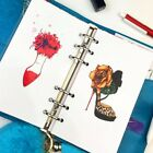 page divider template - Hard Paper Separate Page A5 A6 Planner Divider 5pcs high-heel Series 6 Holes