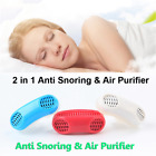 2 in 1 Anti Snore Nasal Air Purifier Sleep Tool Stop Snoring Nose Clip Jaw Belt