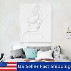 Abstract Kiss White&Black Simple Style Canvas Prints Painting Wall Art Picture