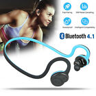Wireless Bluetooth Stereo Headset Earphone Headphone W/MIC For Samsung iPhone