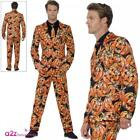 Mens Pumpkin Suit Stand Out Suit Costume Adult Halloween Fancy Dress Outfit