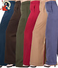 BANNED PARTY ON wide leg 40s style TROUSERS plain RED SAND DENIM