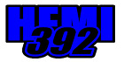 """Dodge Challenger Charger Scat Pack SRT  HEMI 392 Decal 2"""" x 4"""" (two color)"""