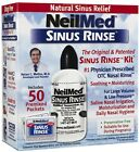 NeilMed Sinus Rinse All Natural Relief Complete Kit 50 Premixed Packets Ex 09/20