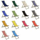 2x Traditional Adjustable Wooden Beach Garden Deck Chairs - VARIOUS COLOURS
