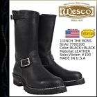 "WESCO Classic BOSS Engineer 11"" Motorcycle boot Black Leather Size ALL SIZES!"