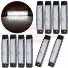 10) White 6 Led Side Marker Clearance Light for Van Truck Boat Trailer Sealed