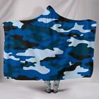 Hooded Blanket BLUE CAMOUFLAGE Wearable 2 Sizes Camo COMBO SAVER OFFER