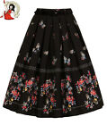 HELL BUNNY LAETICIA floral BUTTERFLY 50s style PLEATED border SKIRT XS-4XL