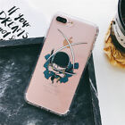 Anime One Piece Zoro Chopper Luffy Clean Soft Case Cover for iPhone X 8 6s 7 7P