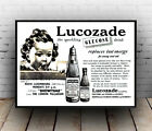Lucozade : Vintage magazine advertising , poster, Wall art, reproduction.