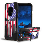 For Moto E4 / XT1723 5.0* Hybrid Armor Kickstand Punisher Skull Case