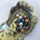 jewelry beaded - 20pcs Individual Wrapped Akoya Oyster with Natural Round Pearls Rainbow Vacuum