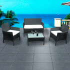 Rattan Garden Set Furniture 4 Piece Set Chair Sofa Table Garden Patio Park New