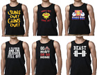 Men's Gym Workout Fitness Clothing Ringer Tank Top Muscle Top Beast Lift Flexed