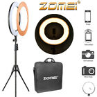 Zomie 5500K Dimmable LED Ring Flash Fill Light w/ Light Stand For phones Camera