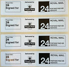 Roll Printed Royal Mail First Class 24 SIGNED FOR PPI Postage Labels