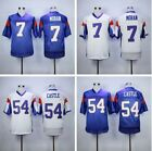 Thad Castle #54 Alex Moran #7 Blue Mountain State Football Jersey Blue White