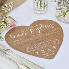 Bride/Groom Kraft VINTAGE WEDDING ADVICE CARDS Guest Book Alternative / Favours