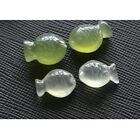 3D creative handcraft two - sided carving natural stone fish DIY Craft image