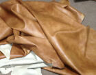 BR732 Leather Cow Hide Cowhide Upholstery Craft Fabric Distressed Brandy Brown