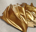 BR730 Leather Cow Hide Cowhide Upholstery Craft Fabric Antique Gold