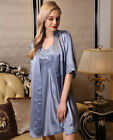 Pure 19MM Silk Slip Robe Set With Lace 7075