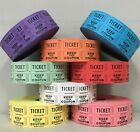 5 Rolls Raffle Tickets 2000 50/50 Double Stub Five Roll Deal 10,000 Fund Raiser