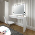 Large Hollywood Bluetooth Vanity Makeup Mirror LED Light Tabletop/ Wall Mounted