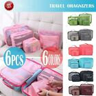 US 6PC/Set Travel Storage Pouch Bags Luggage Organizer Bags Waterproof Dustproof