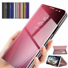 Luxury Mirror Smart Clear View Wallet Flip Stand Case For iPhone 6 6S 7 8 PLUS X