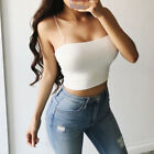 USA Women Sexy Striped Crop Top Bustier Tube Crop Tank Top Cami Tops Vest Blouse
