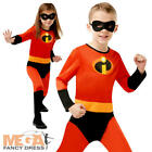 Incredibles 2 Kids Fancy Dress Superhero Boys Girls Disney Childs Costume Outfit