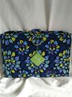 Vera Bradely Indigo Pop 19 Compartment Hanging Jewlery Organizer MWT