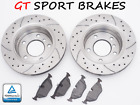 OPEL ASTRA H 1.2 1.4 1.6 T 1.8 2.0 T 2004- BRAKE ROTORS + PADS GT1639 Ø280 FRONT