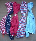 Patriotic Gauze Scarf  Shawl - Red, White, Blue - 4th of July - Your Choice