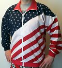 USA Vintage American Flag Stars & Stripes Zip Jacket Patriotic Adult Flag Wear