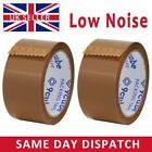 LOW NOISE Brown Packaging Tape Rolls Sealing Box Packing Parcel Tapes 48mm x 66M