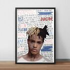 XXXTENTACION INSPIRED WALL ART Print / Poster A4 A3 HIP HOP rap xxx Lyrics