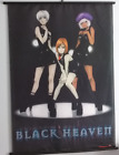 "Anime Scroll Art THE LEGEND OF BLACK HEAVEN 1999 A.I.C. Pioneer LDC Inc. 29""x42"""