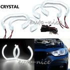 4Pcs Crystal Acrylic Covers LED Angel Eye For BMW F30 3 Series Halogen Headlight