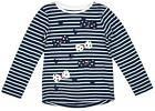 Girls Stripe & Hearts Polka Bows Long Sleeve T-Shirt Top 1 to 1½ Years