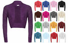 womens lurex shiny cropped knitted long sleeve cardigan casual wear shrug top